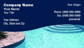 Swimming pool business cards at107551 colourmoves