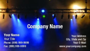 Live theater business cards at110293 colourmoves