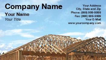 Contractors Business Cards