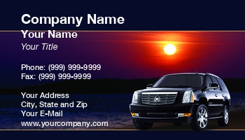 Car Service Business Cards