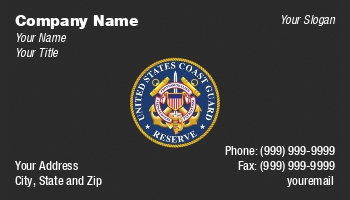 High Quality Coast Guard Business Cards Best Buy Business Cards