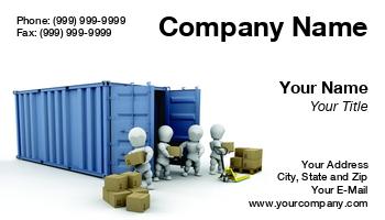 Shipping company business cards at129657 colourmoves