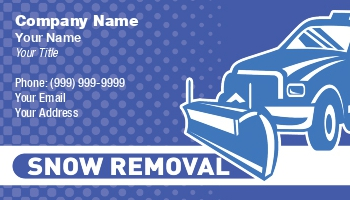 Snow removal business cards at146962 colourmoves