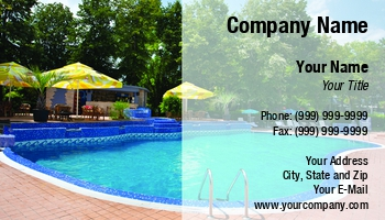 Swimming pool business cards at146977 colourmoves