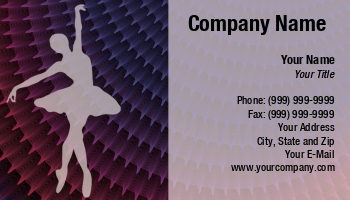 Dance studio business cards at167803 colourmoves