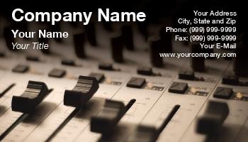 Audio Equipment Technician Business Cards