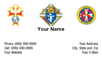 Knights Of Columbus Business Cards