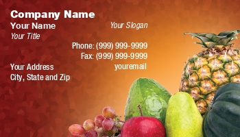 Nutritionist Business Cards