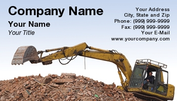 Demolition excavator business cards at29021 colourmoves