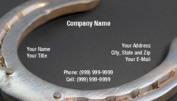 Farrier business cards at205330 colourmoves