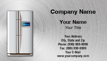 Appliance Business Cards