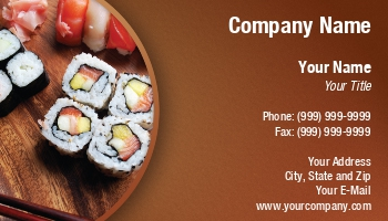 Oriental food business cards at218258 colourmoves Choice Image