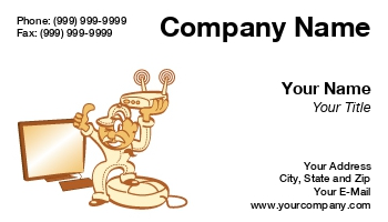 Computer Repair Business Cards - Computer repair business card template