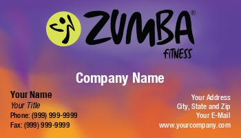 Zumba business cards enlarge template template details at232779 reheart Choice Image