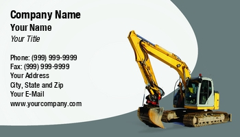 Demolition excavator business cards at238180 colourmoves