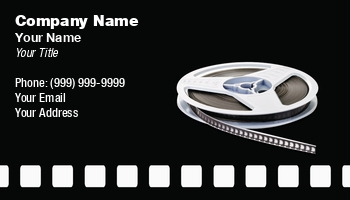 Movie rental business cards at240229 colourmoves
