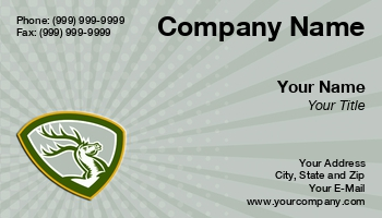 Taxidermy business cards at244699 colourmoves