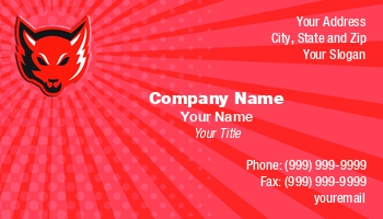 Taxidermy business cards at244704 colourmoves