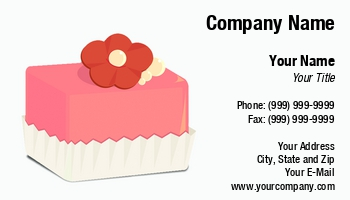 Cake decorator business cards at260181 reheart Choice Image