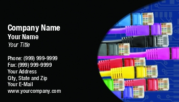 Computer networks business cards at276873 reheart Choice Image