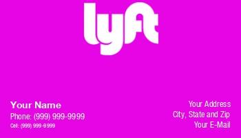 Lyft Business Cards >> Template At292839 Lyft