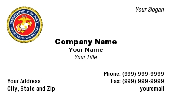 Marine corps business cards marine corps colourmoves