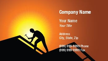 Roofing Business Cards - Free construction business cards templates