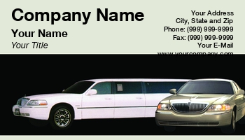 Private limo business cards at38139 colourmoves Images