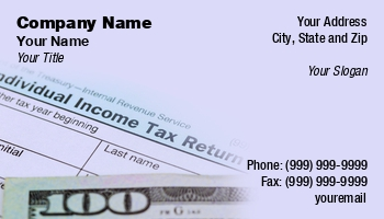 Tax Preparer Business Cards