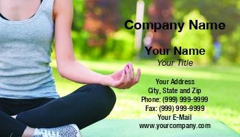 Yoga mat business cards at316907 reheart Choice Image