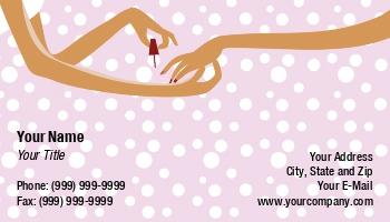 Manicurist Business Cards