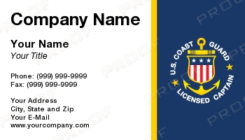 Military business cards uscglicensedcaptaineps reheart Gallery