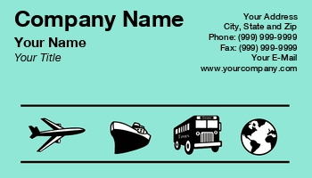 Travel agent business cards at52346 reheart Choice Image