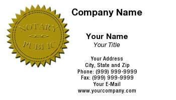 Notary business cards sample image collections card design and notary business cards at54211 reheart image collections reheart Choice Image