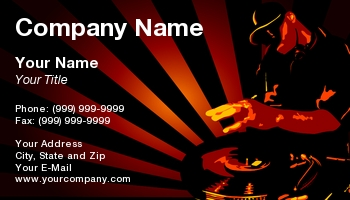 Musical entertainment business cards at55679 colourmoves