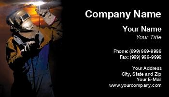 Welder Business Cards