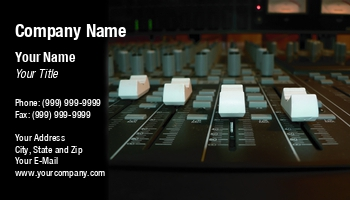 Sound technician business cards at57607 colourmoves Images