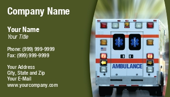 Ambulance service business cards at74594 colourmoves