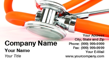 Registered Nurse Business Cards Page