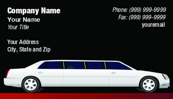 Limousine Business Cards