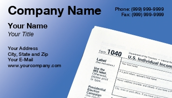 Business Card Editor Income Tax Buscard